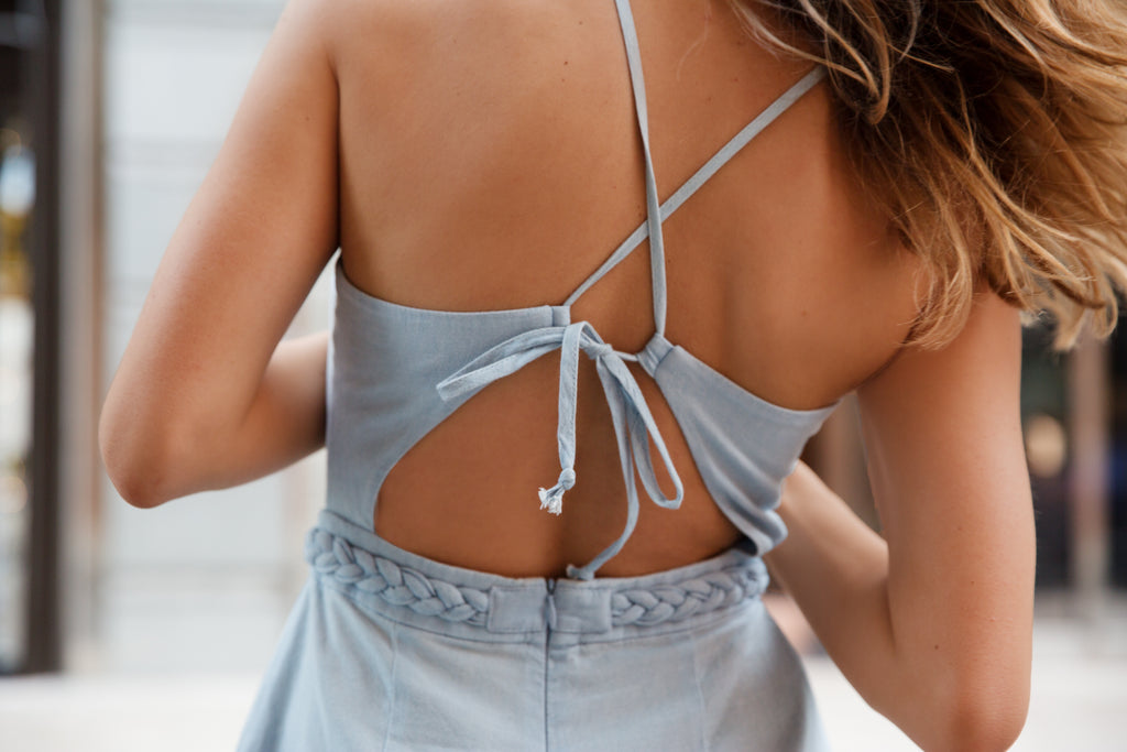 Bec & Bridge Denim Romper