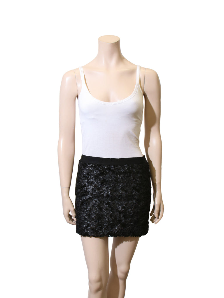Elizabeth and James Feather Mini Skirt