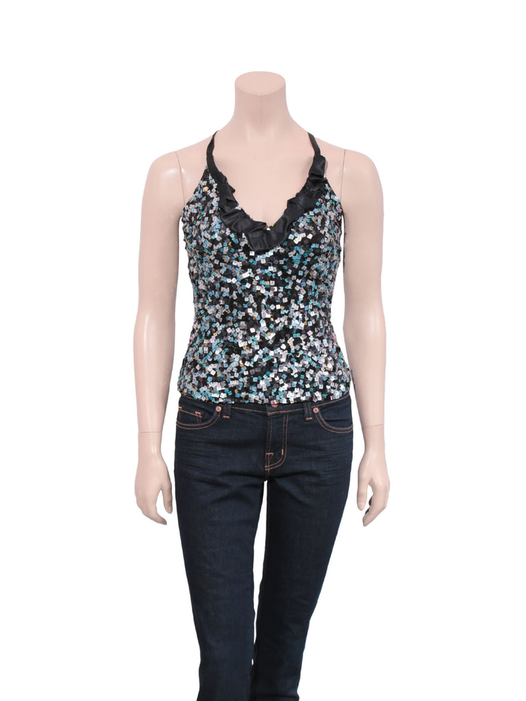 Emporio Armani Sequin Silk Top
