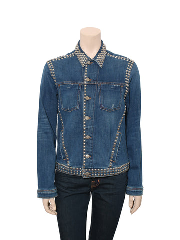 L'Agence Studded Denim Jacket