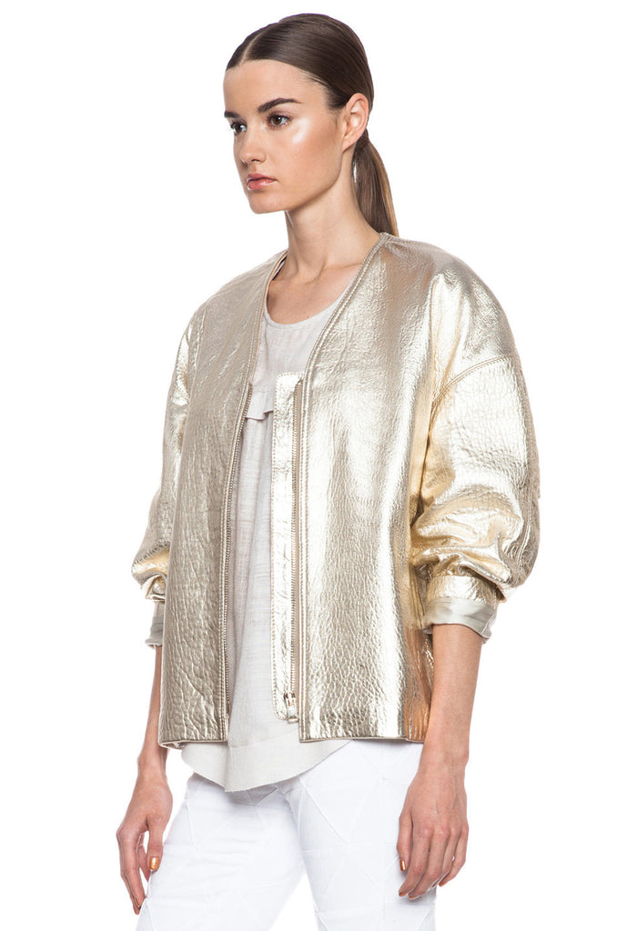 Isabel Marant Camelia Metallic Leather Jacket