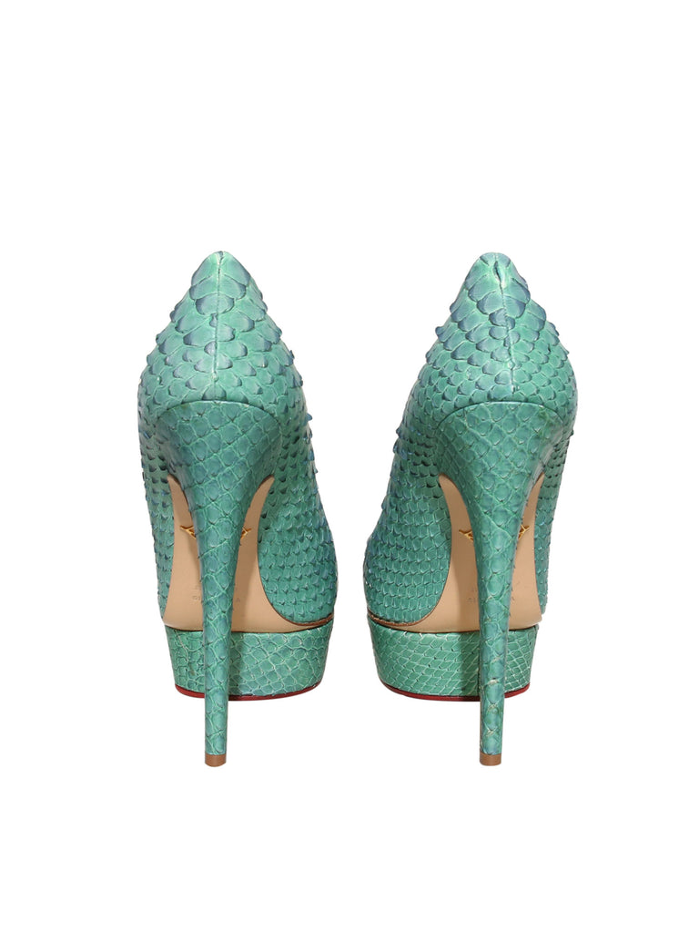 Charlotte Olympia Snakeskin Pumps