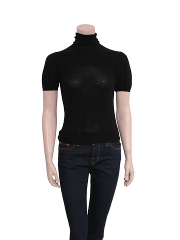Prada Short Sleeve Turtleneck Sweater