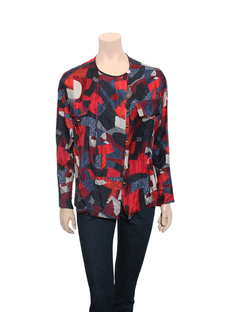 Chanel Vintage Printed Blouse