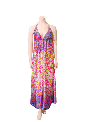 Alice & Trixie Printed Silk Maxi Dress