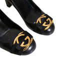 Gucci Logo Leather Pumps
