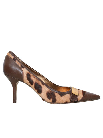 Dole & Gabbana Pointed Ponyhair Pumps