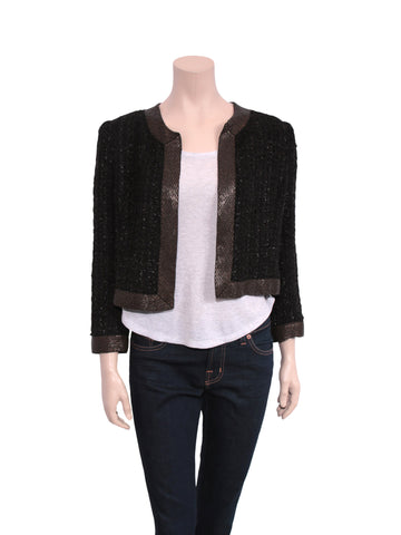 Parker Beaded Tweed Blazer