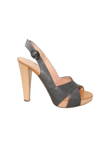 Casadei Platform Leather Sandals