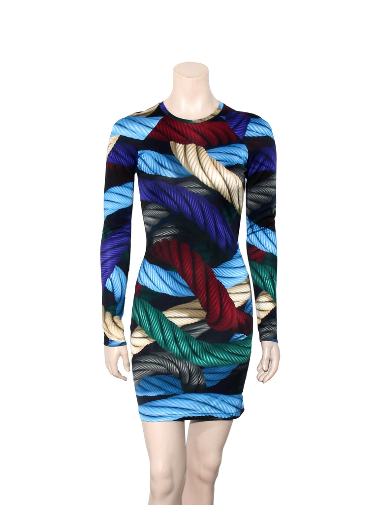 Christopher Kane Printed Silk Dress