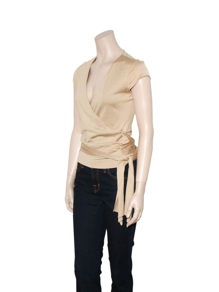 Ralph Lauren Silk Wrap Top