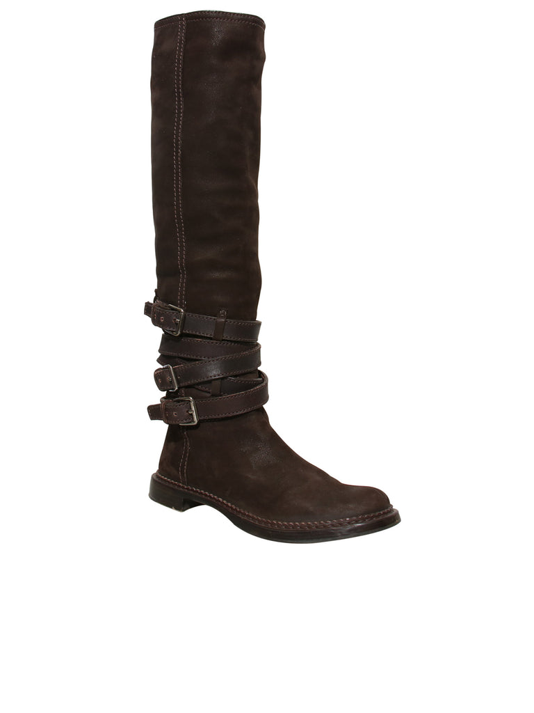Miu Miu Suede Knee-High Boots