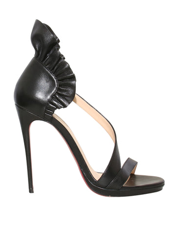 Christian Louboutin Colankle Ruffled Leather Sandals