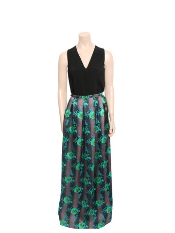 Christopher Kane Silk Floral Maxi Skirt