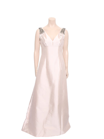 Prada Silk Embellished Gown