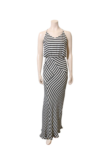 Mason Striped Silk Maxi Dress