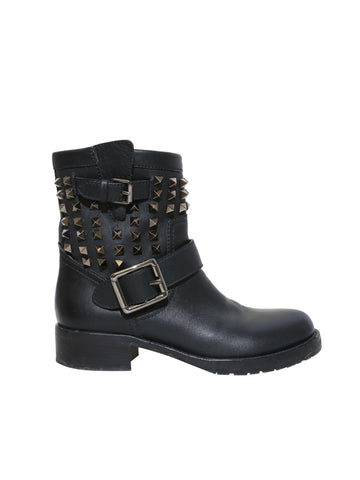 Valentino Rockstud Rolling Noir Leather Boots