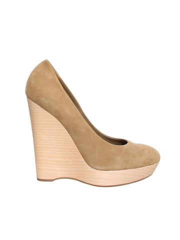YSL Suede Maryna Wedges