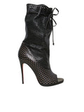 Christian Louboutin Perforated Leather Jennifer Booties