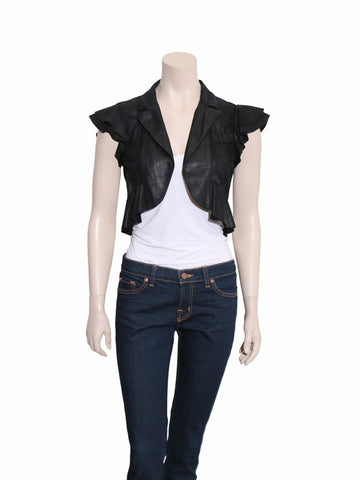 Nanette Lepore Cropped Leather Bolero