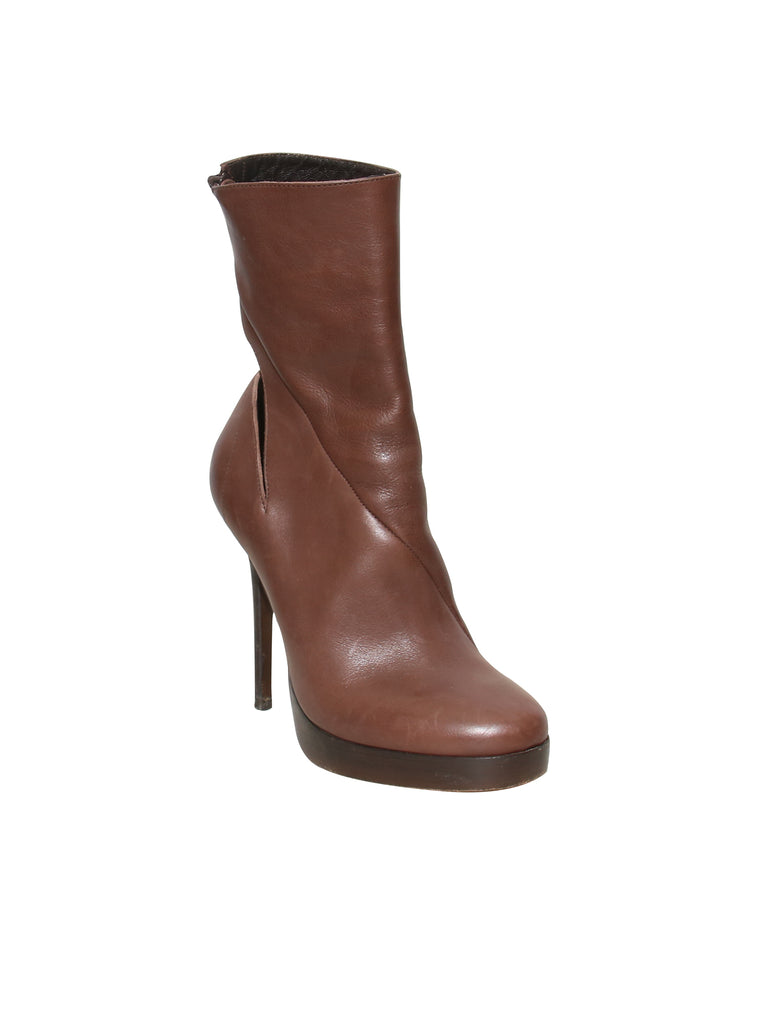 Haider Ackermann Cut-Out Leather Boots