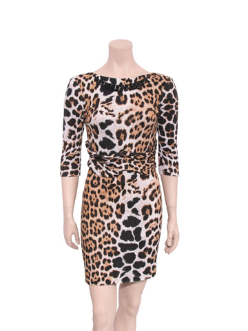 Blumarine Embellished Leopard Print Dress