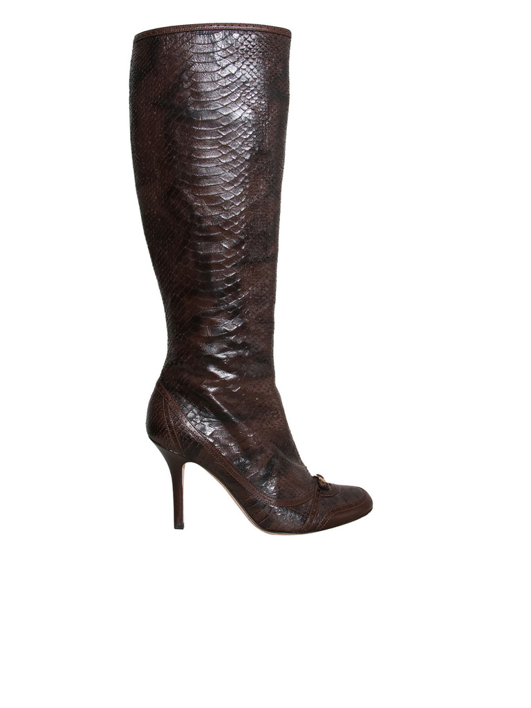 0bfd4be55cc Pre-owned Christian Dior Snakeskin Boots – Sabrina s Closet