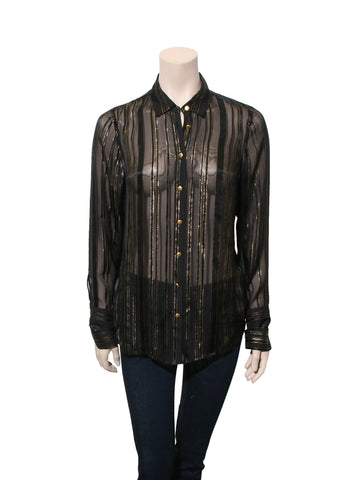Frame Sheer Silk Blouse