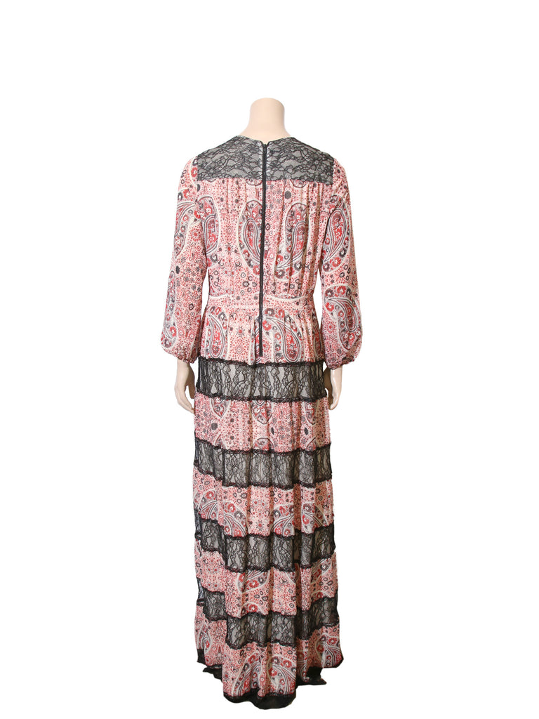 alice + olivia Printed Lace Maxi Dress