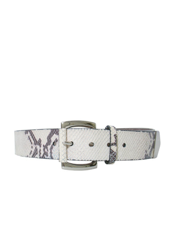 Michael Kors Snakeskin Print Leather Belt