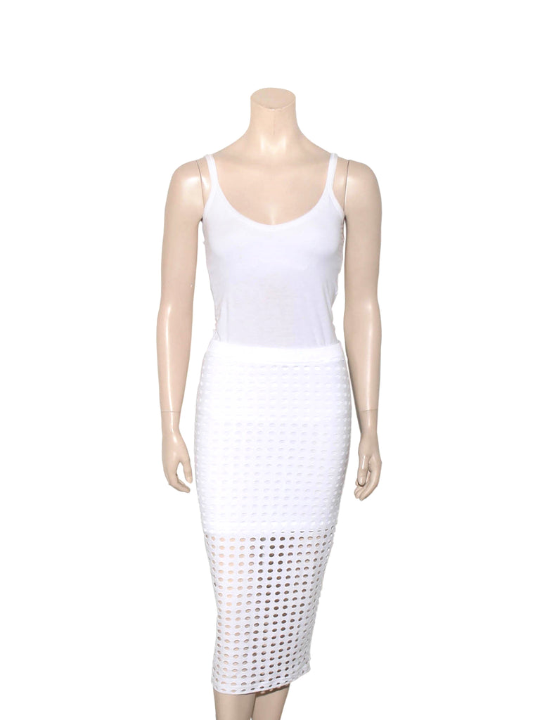 Alexander Wang Perforated Midi Skirt