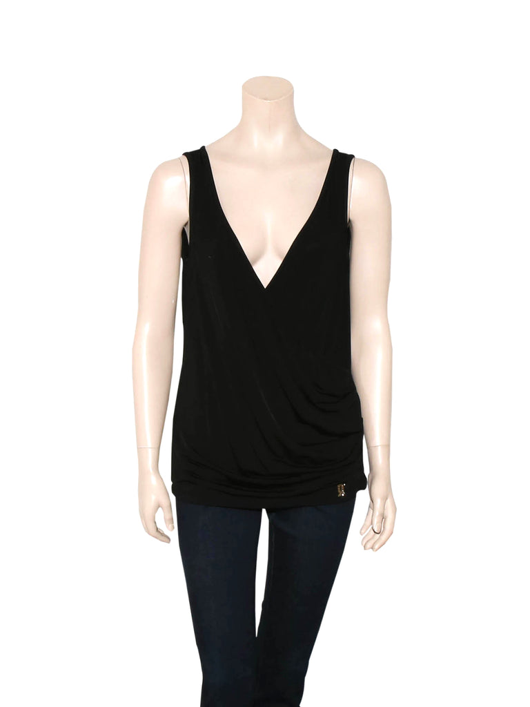 Galliano Jersey Wrap Top