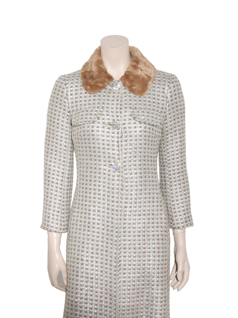 Trina Turk Metallic Coat