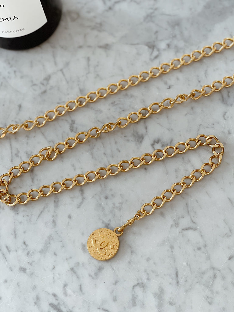 Chanel Vintage Medallion Belt Chain-Link Belt