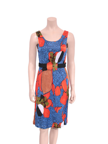 Alberta Ferretti Philosophy Printed Sleeveless Dress