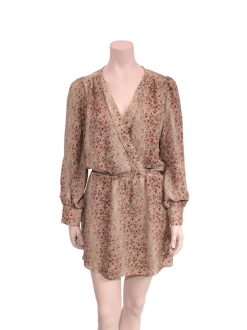 Parker Silk Floral Wrap Dress