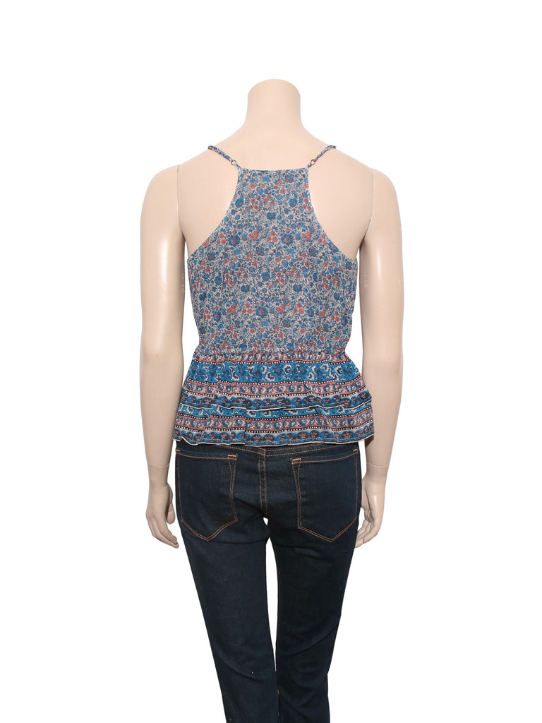 Joie Floral Wrap-Front Silk Top