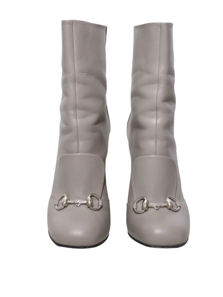Gucci Horsebit Accent Leather Boots