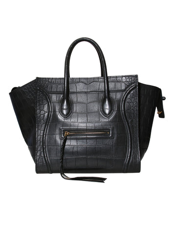 Celine Embossed Phantom Luggage Tote