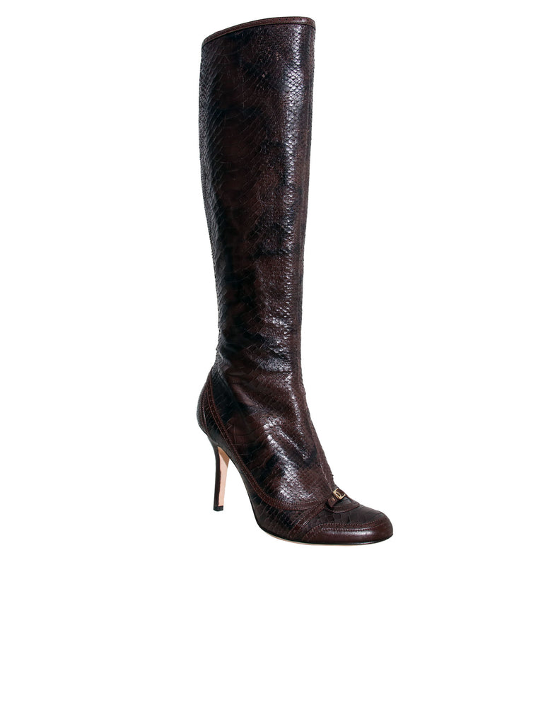Christian Dior Snakeskin Boots