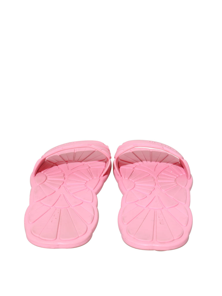 Miu Miu Rubber Slide Sandals