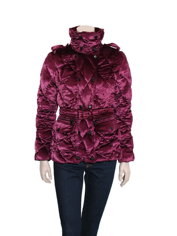 Burberry Velvet Down Coat
