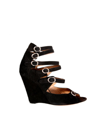 Chloe Strappy Suede Wedges