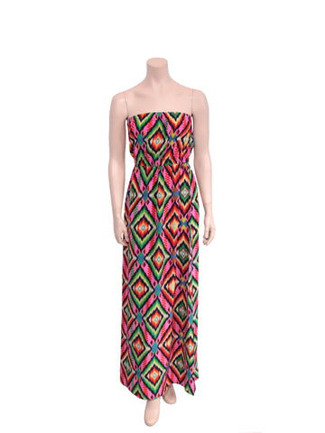 Twelfth Street by Cynthia Vincent Strapless Silk Printed Maxi