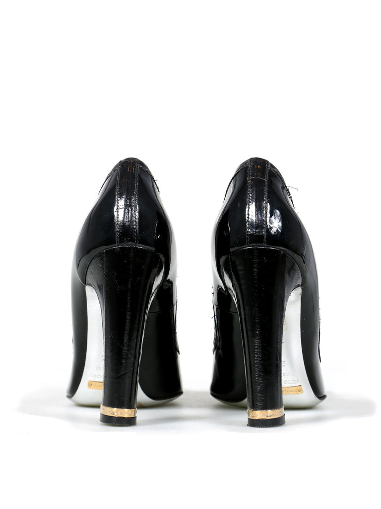 Dolce & Gabbana Square-Toe Bow Pumps