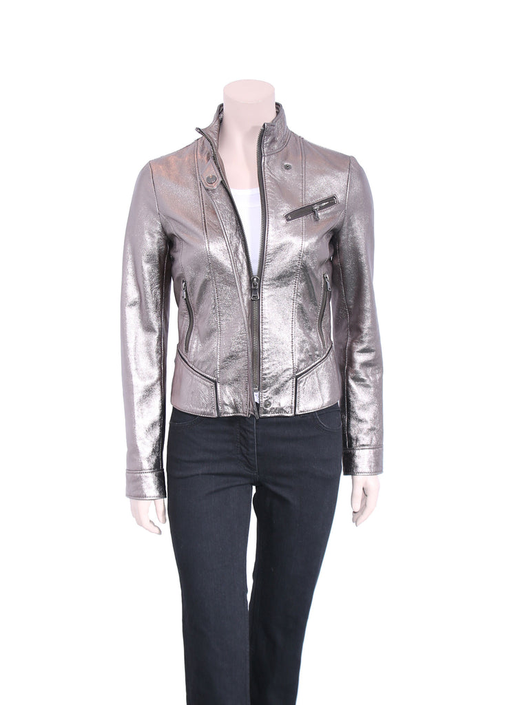 D&G Metallic Leather Jacket