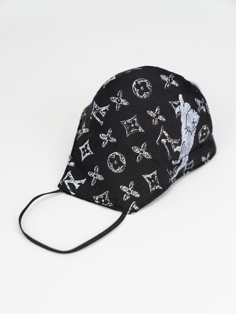 Recycled Louis Vuitton Fabric Face Mask
