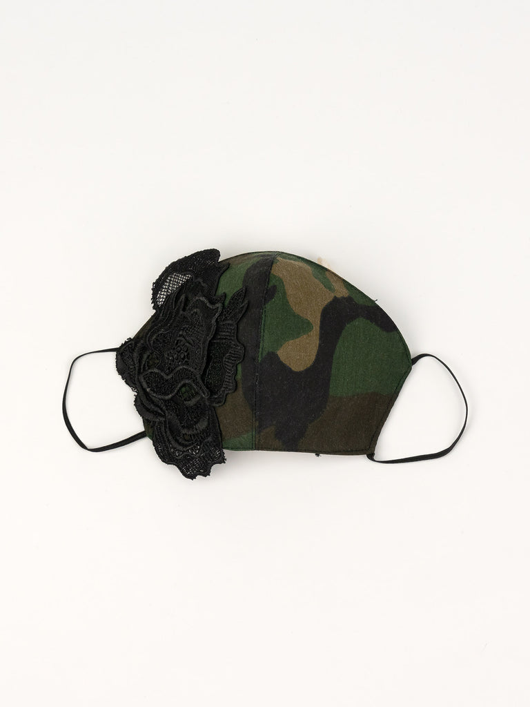 Embellished Camo Face Mask