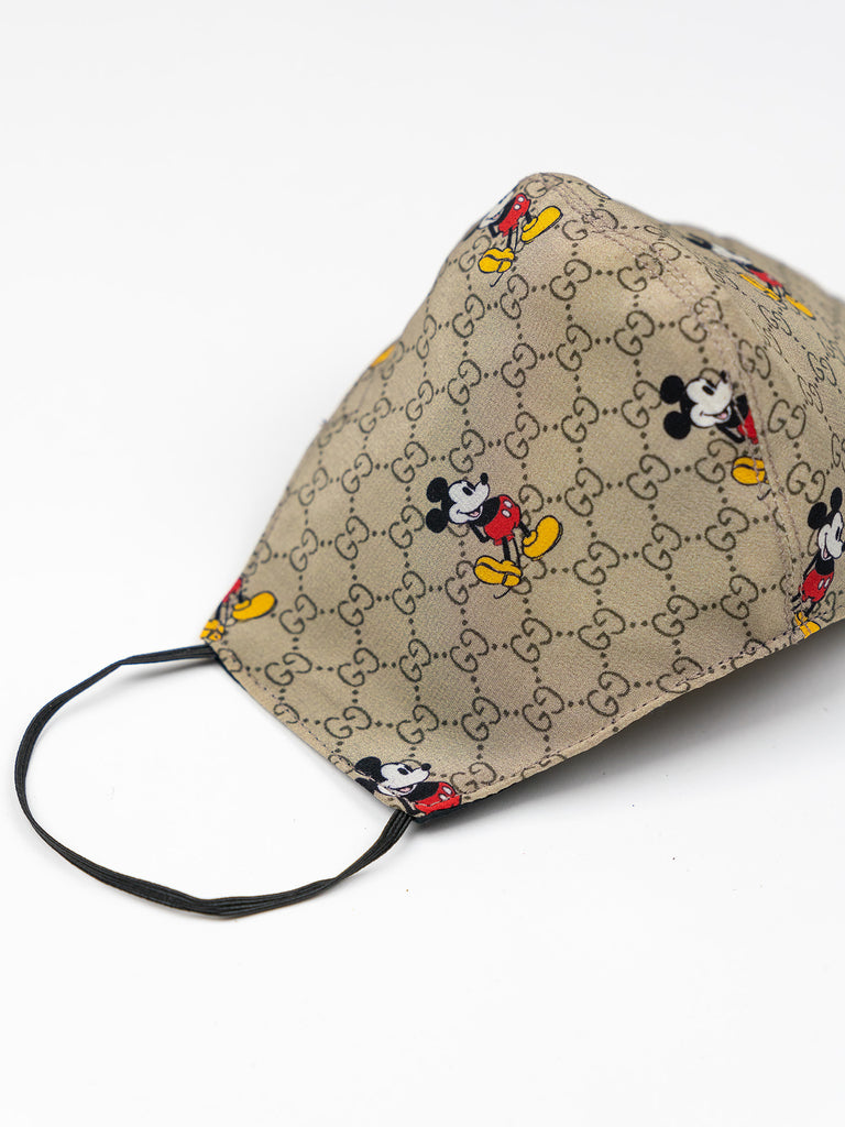 Recycled Gucci GG Mickey Mouse Fabric Face Mask