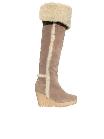 DVF Shearling Boots